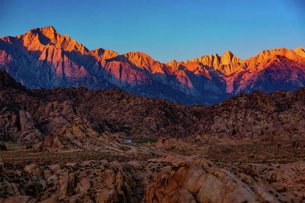 Photograph - Sunrise Illuminating The Sierra by John Hight