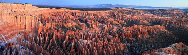 Photograph - Sunrise In Bryce Canyon Panorama by Pierre Leclerc Photography