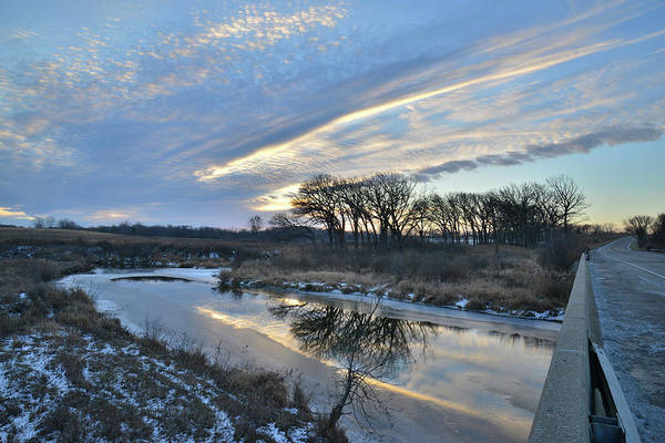 Photograph - Sunrise In Glacial Park From Route 31 Bridge by Ray Mathis