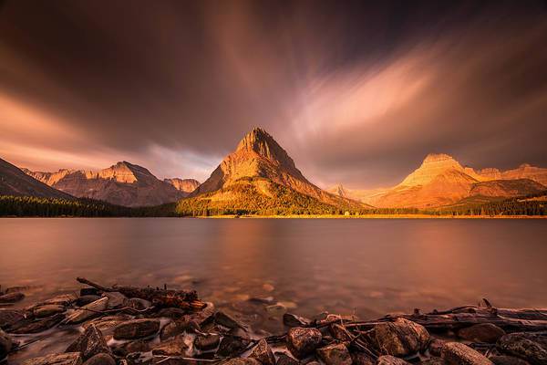 Photograph - Sunrise In Glacier National Park by Pierre Leclerc Photography