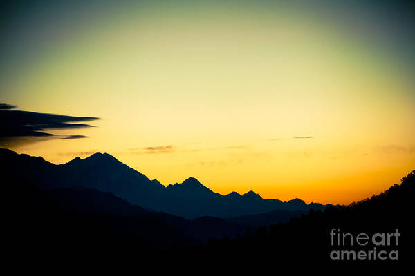 Photograph - Sunrise In Himalayas Annapurna Yatra Himalayas Mountain Nepal 2014 Artmif.lv by Raimond Klavins