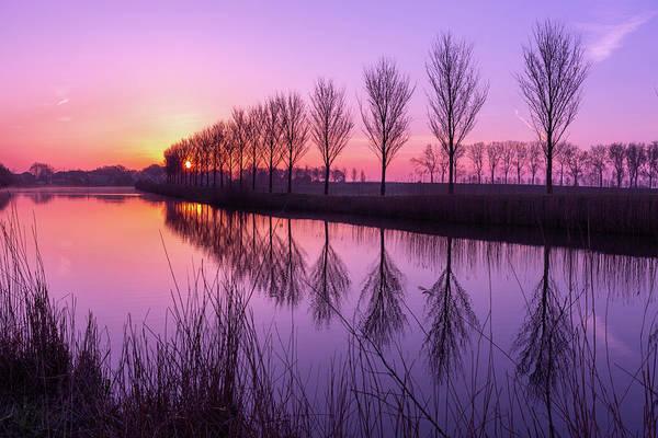 Sunrise In Holland Art Print