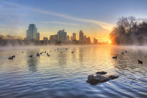 Texas Photograph - Sunrise In January Over Austin Texas 5 by Rob Greebon
