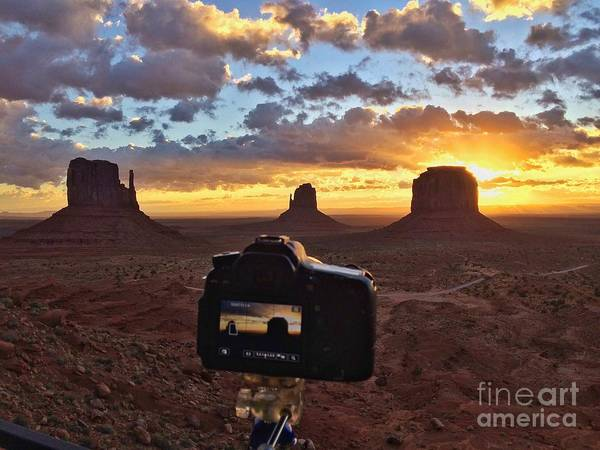 The Mitten Photograph - Sunrise In Monument Valley by Diana Rajala