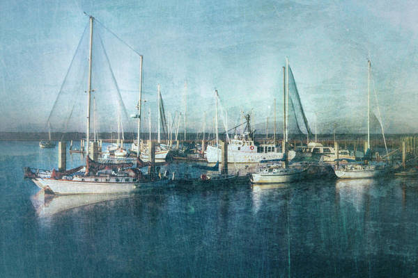 Photograph - Sunrise In Nautical Blues by Debra and Dave Vanderlaan