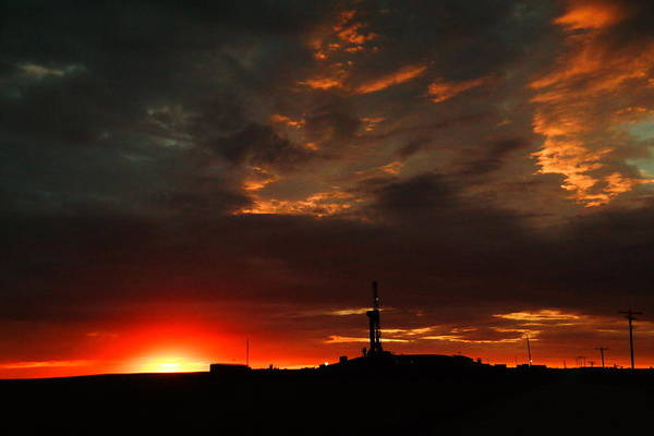 Wall Art - Photograph - Sunrise In North Dakota by Jeff Swan