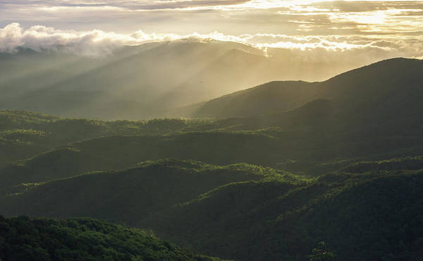 Photograph - Sunrise In North Georgia Mountains 4 by Andrea Anderegg