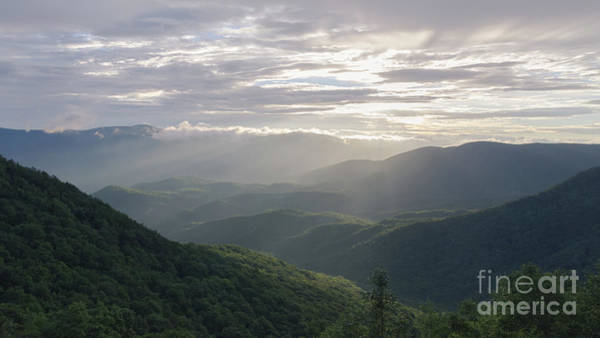 Photograph - Sunrise In North Georgia Mountains by Andrea Anderegg