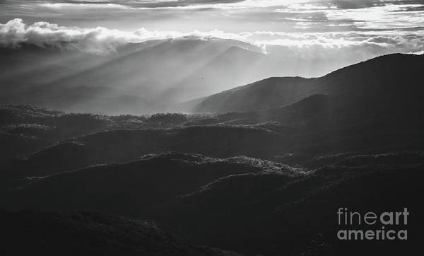 Photograph - Sunrise In North Georgia Mountains Bw #blackwhite  by Andrea Anderegg