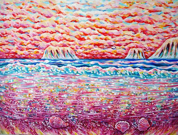 Master Piece Painting - Sunrise In Paradise by Katreen Queen