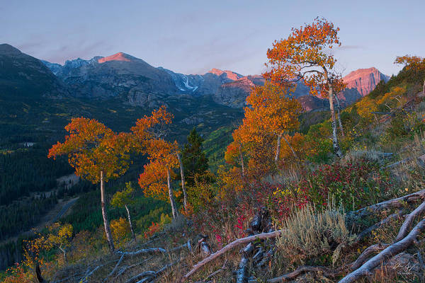 Photograph - Sunrise In Rocky Mountain National Park by Aaron Spong