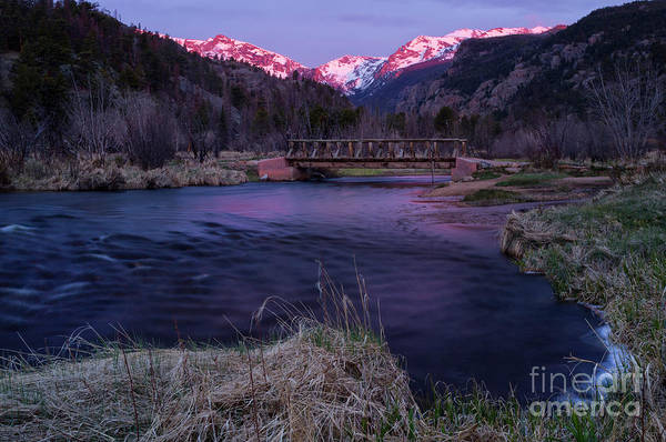 Alpen Glow Wall Art - Photograph - Sunrise In Rocky Mountain National Park And The Big Thompson Riv by Ronda Kimbrow