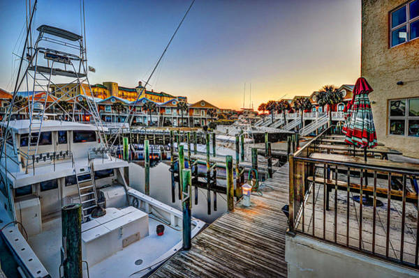 Photograph - Sunrise In San Roc Harbor Marina by Michael Thomas