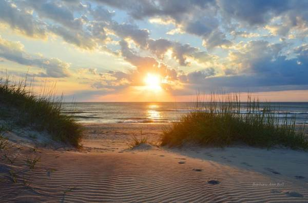 Outer Banks Wall Art - Photograph - Sunrise In South Nags Head by Barbara Ann Bell