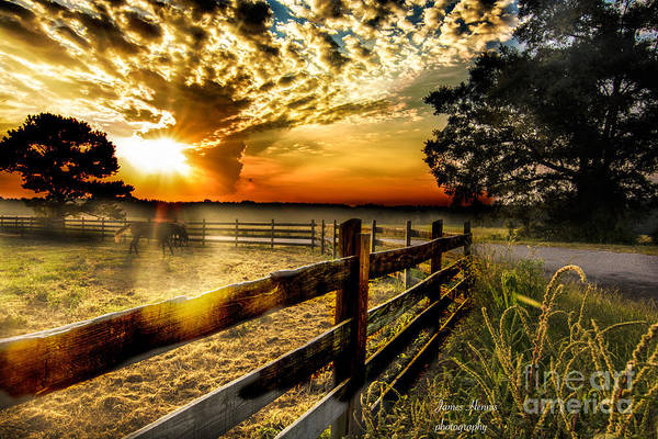 Photograph - Sunrise In Summer by James Hennis