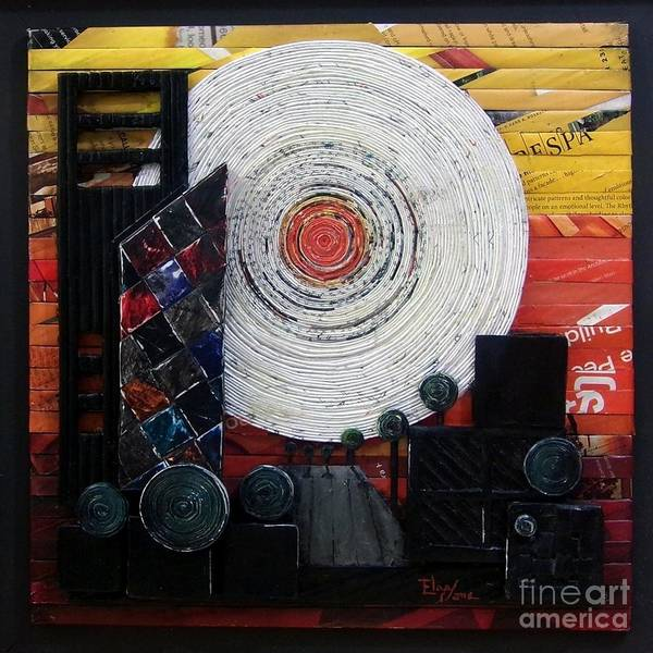 Town Square Mixed Media - Sunrise In The City by Eloa Jane