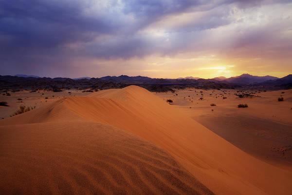 Photograph - Sunrise In The Desert by Khaled Hmaad
