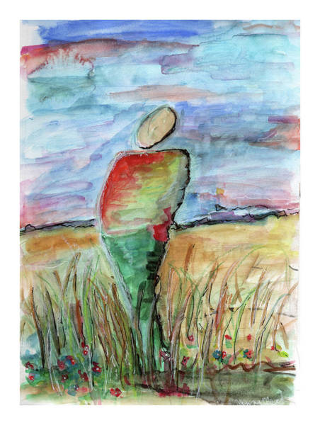 Mixed Media - Sunrise In The Grasses by Jenny Mead