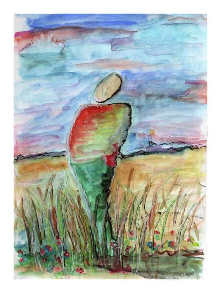 Sunrise In The Grasses Art Print
