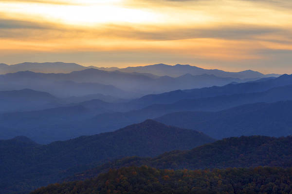 Photograph - Sunrise In The Smokies by CA  Johnson