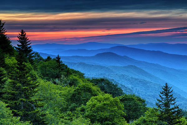 Wall Art - Photograph - Sunrise In The Smoky Mountains by Stephen Stookey