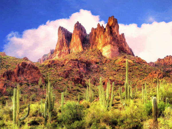 Painting - Sunrise In The Superstitions by Dominic Piperata