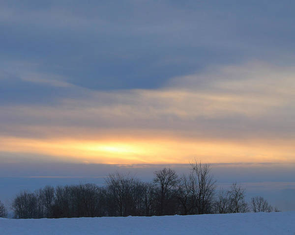 Photograph - Sunrise In The Winter by Angela Murdock