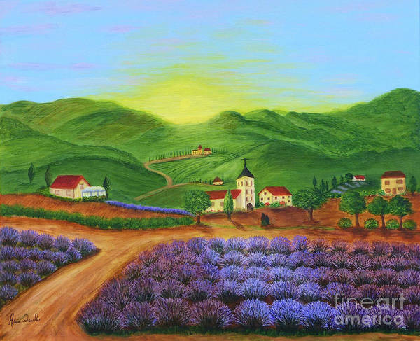 Painting - Sunrise In Tuscany by Alicia Fowler