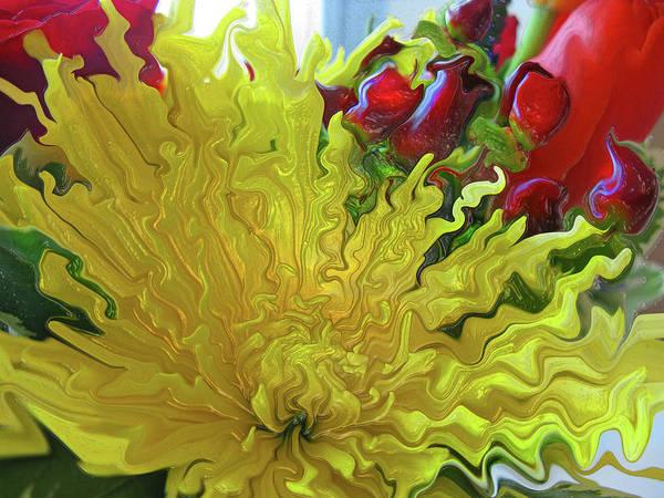Liquify Photograph - Sunrise by Kathy Moll