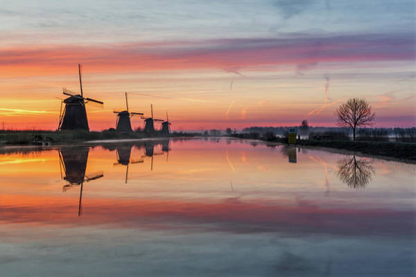 Photograph - Sunrise Kinderdijk by Mario Visser