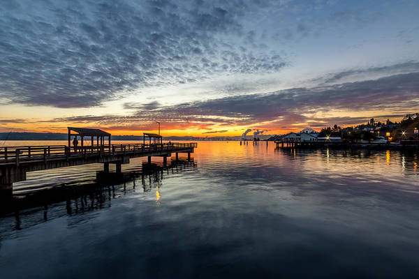 Photograph - Sunrise Less Davice Pier by Rob Green