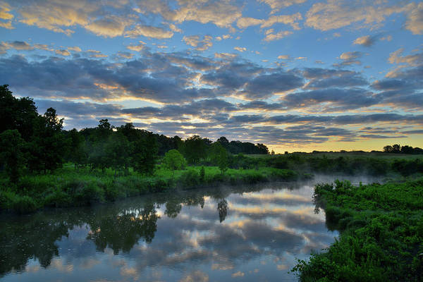 Photograph - Sunrise Mirror Image In Glacial Park East by Ray Mathis
