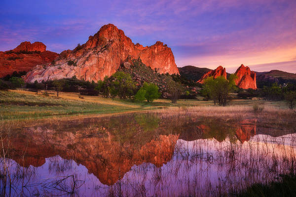 Colorado Springs Photograph - Sunrise Of The Gods by Darren  White
