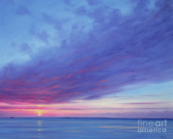 Bahamas Painting - Sunrise Off Treasure Cay by Derek Hare