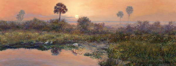 Wall Art - Painting - Sunrise Okeechobee Breakfast Club  by Laurie Snow Hein