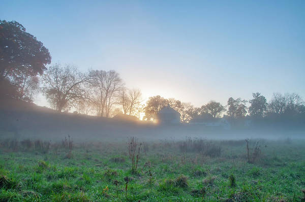 Wall Art - Photograph - Sunrise On A Farm - Valley Forge by Bill Cannon