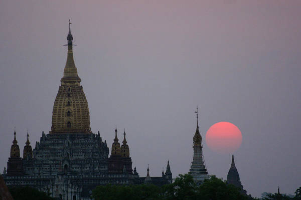 Wall Art - Photograph - Sunrise On Bagan by Jessica Rose