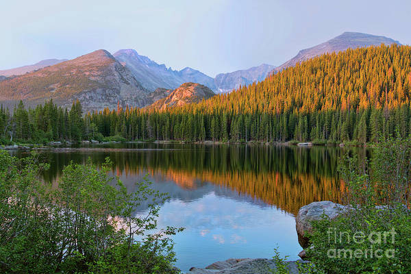 Photograph - Sunrise On Bear Lake Rocky Mtns by Teri Brown
