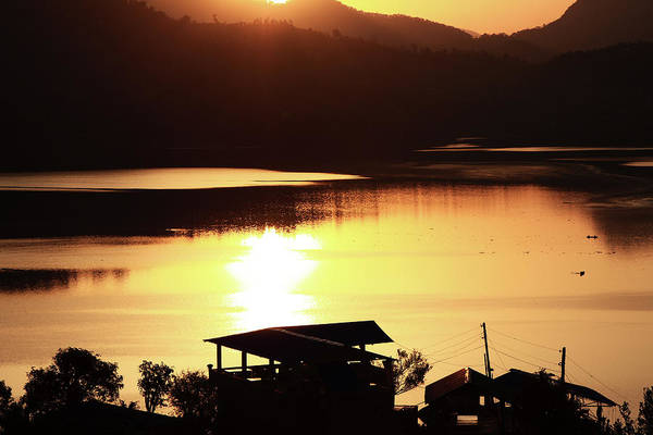 Photograph - Sunrise On Begnas Lake, The Himalayas, Nepal by Aidan Moran