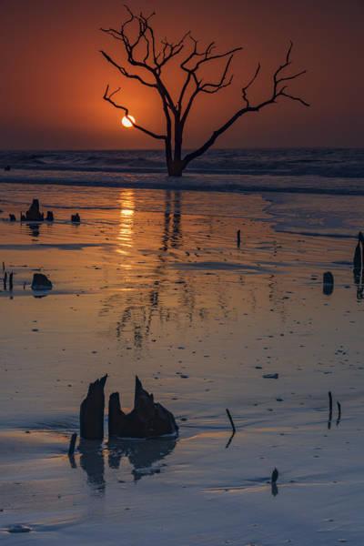 Bone Yard Wall Art - Photograph - Sunrise On Boneyard Beach by Rick Berk