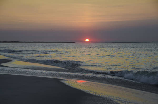 Jetti Wall Art - Photograph - Sunrise On Cape May Inlet by Bill Cannon