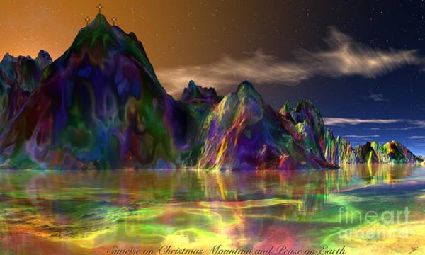 Wall Art - Mixed Media - Sunrise On Christmas Mountain 6 by Heinz G Mielke