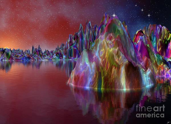 Wall Art - Mixed Media - Sunrise On Christmas Mountain by Heinz G Mielke