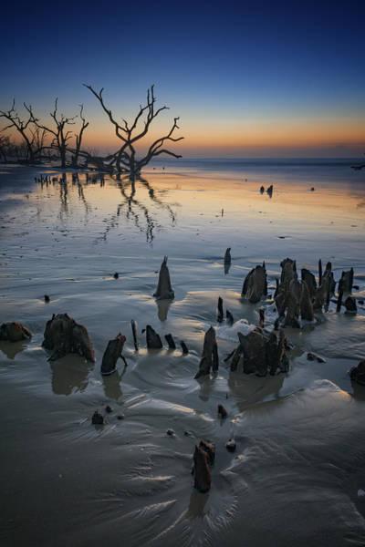 Bone Yard Wall Art - Photograph - Sunrise On Edisto Island by Rick Berk