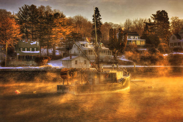 Photograph - Sunrise On Fishing Boat - York Harbor, Maine by Joann Vitali