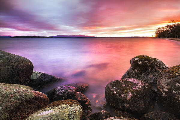 Photograph - Sunrise On Lake Winnipesaukee by Robert Clifford