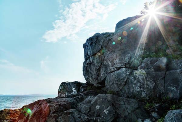 Photograph - Sunrise On Maine's Rocky Coastline by Kay Brewer