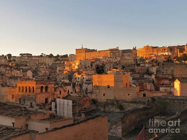 Photograph - Sunrise On Matera by Laurie Morgan