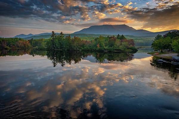 Wall Art - Photograph - Sunrise On Mount Katahdin by Rick Berk