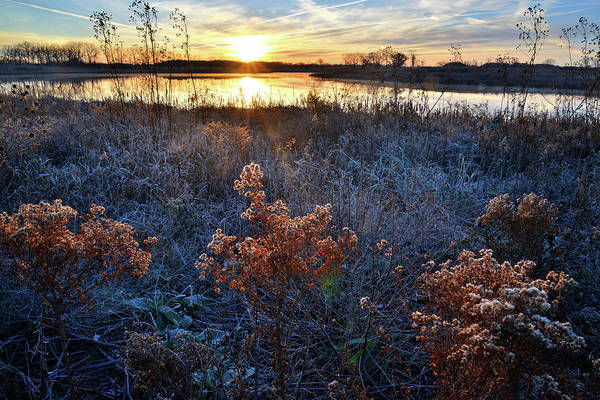 Photograph - Sunrise On Pond In Lakewood Forest Preserve by Ray Mathis